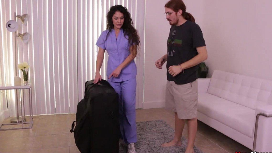 Mistress trains white couple