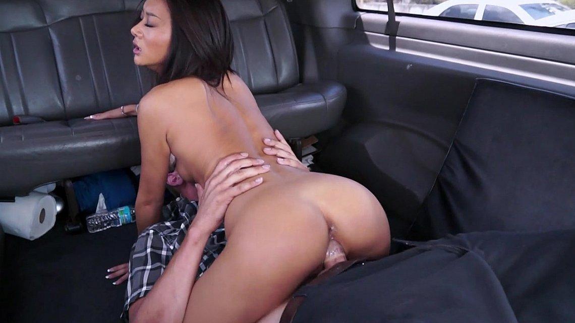 Brunette car fingering